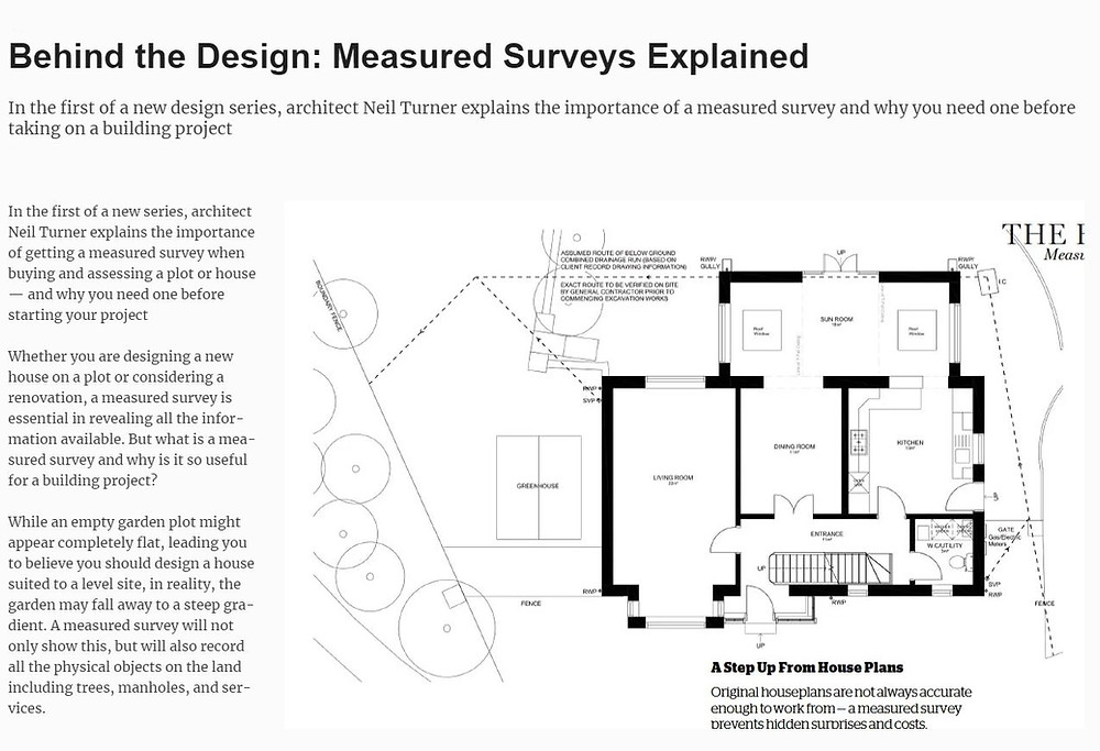 Measured Survey Drawing Example