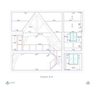 Section Drawing in St Pancras Chambers