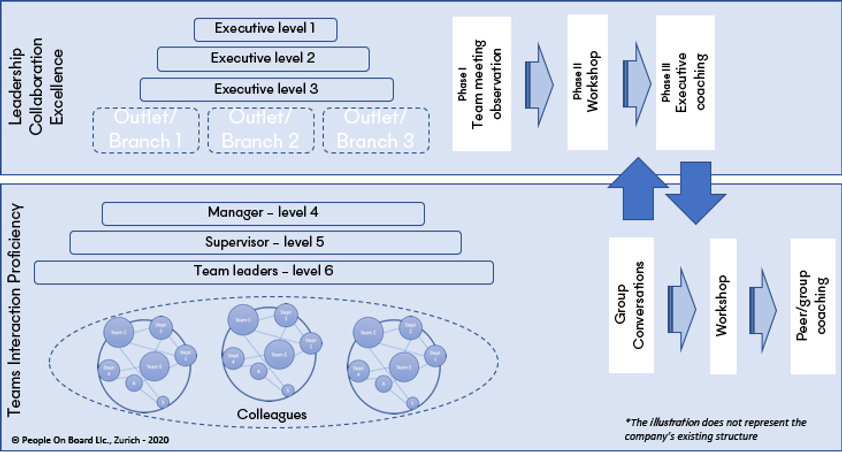 Leadership collaboration excellence and team interaction proficiency, complementary implementation