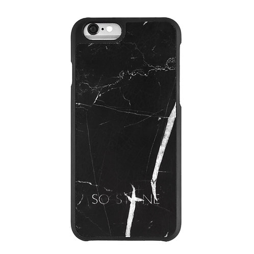 SO STONE BLACK marble case for iPhone 7