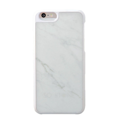 SO STONE WHITE marble case for iPhone 6/6S