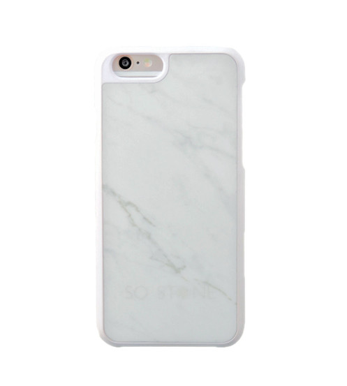 factory price 1a0ad 3ba0e SO STONE WHITE marble case for iPhone 7 Plus