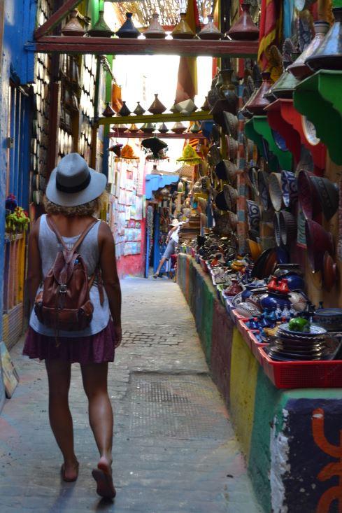 Uno de los mágicos callejones de la Medina