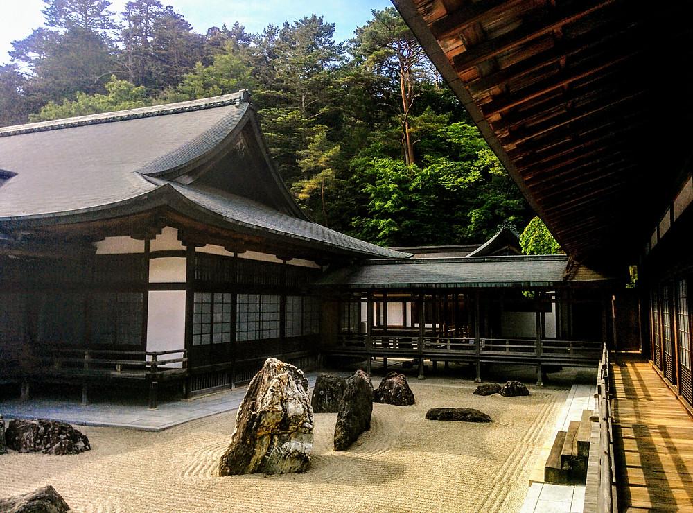 Jardín Zen del templo Kongobuji, Koyasan