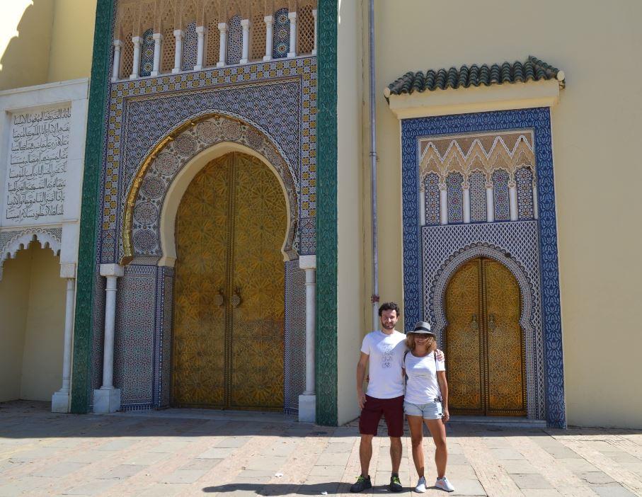 Las puertas del Palais Royal de Fez son impresionantes