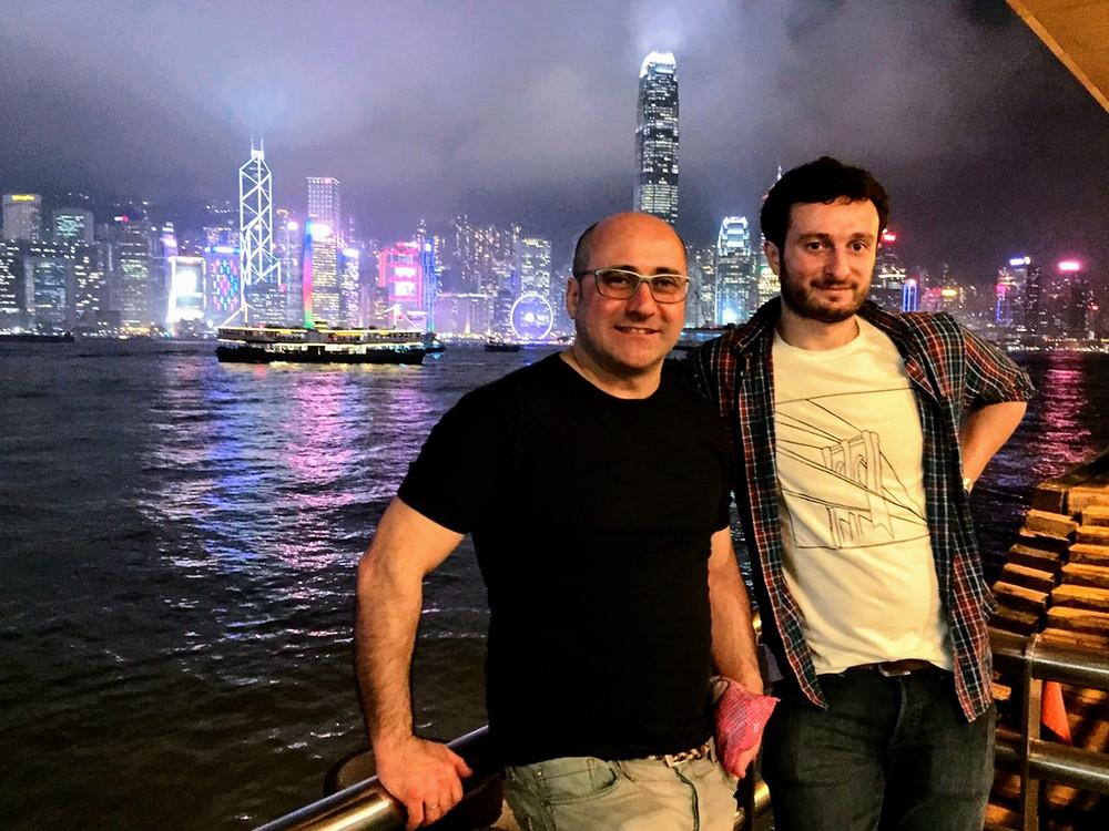 Vistas a la bahía de Hong Kong