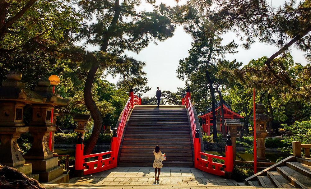 Santuario shinto Sumiyoshi Taisha, en Osaka