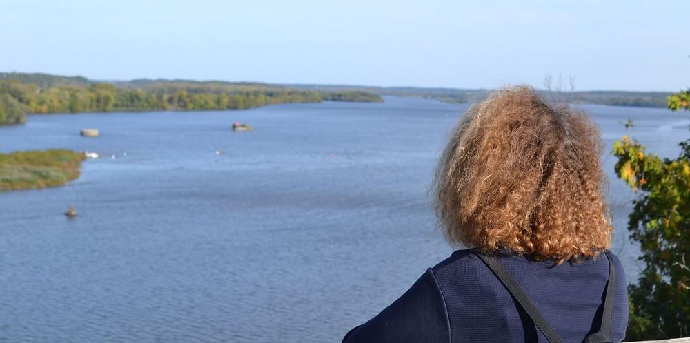 Las panorámicas al río Illinois desde el sendero del Starved Rock Park