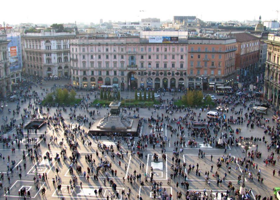 Las vistas a la Plaza del Duomo desde las terrazas de la Catedral son espectaculares
