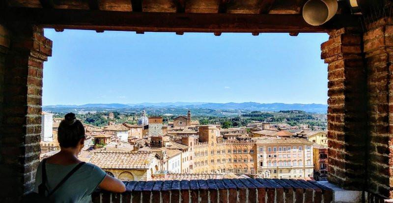 Vaya vistas de Siena hay desde las alturas