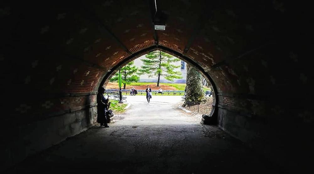 Saliendo de Central Park