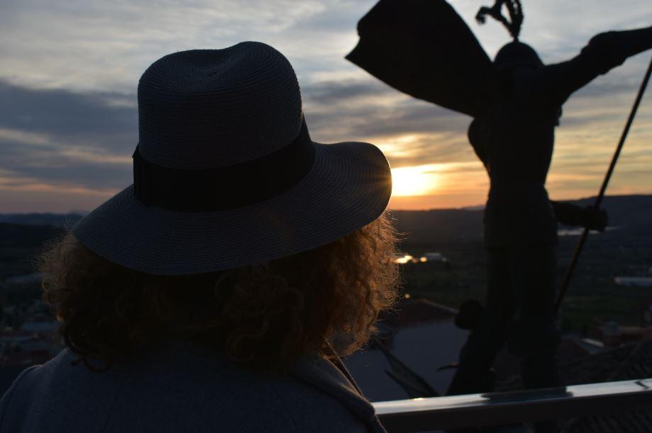 Puesta de sol desde el Castillo de Banyeres de Mariola