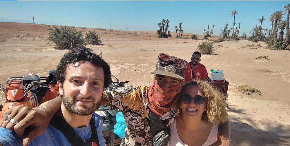 Lo pasamos en grande recorriendo el Palmeral de Marrakech en quad