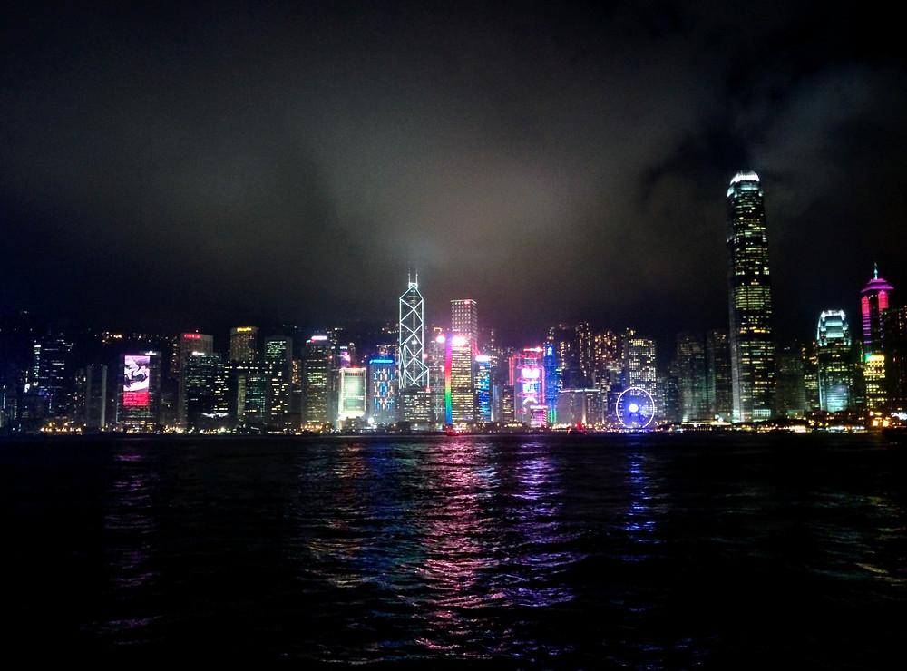 Vista de la bahía de Hong Kong desde Kowloon