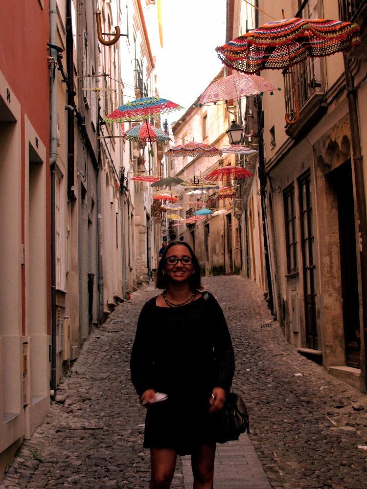 Preciosos callejones en Coimbra