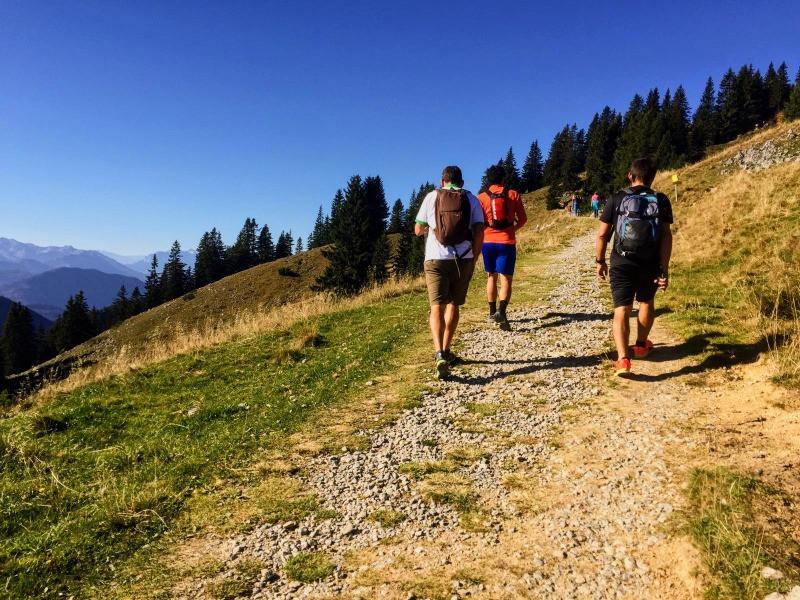 La primera subida fue lo más duro de la ruta en Brauneck