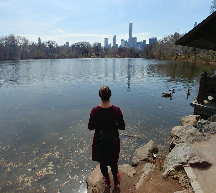 Mirando a la ciudad desde el oasis de Central Park