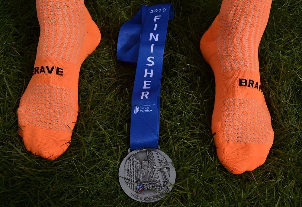 La medalla de finisher fue el premio a un esfuerzo de casi 4 horas
