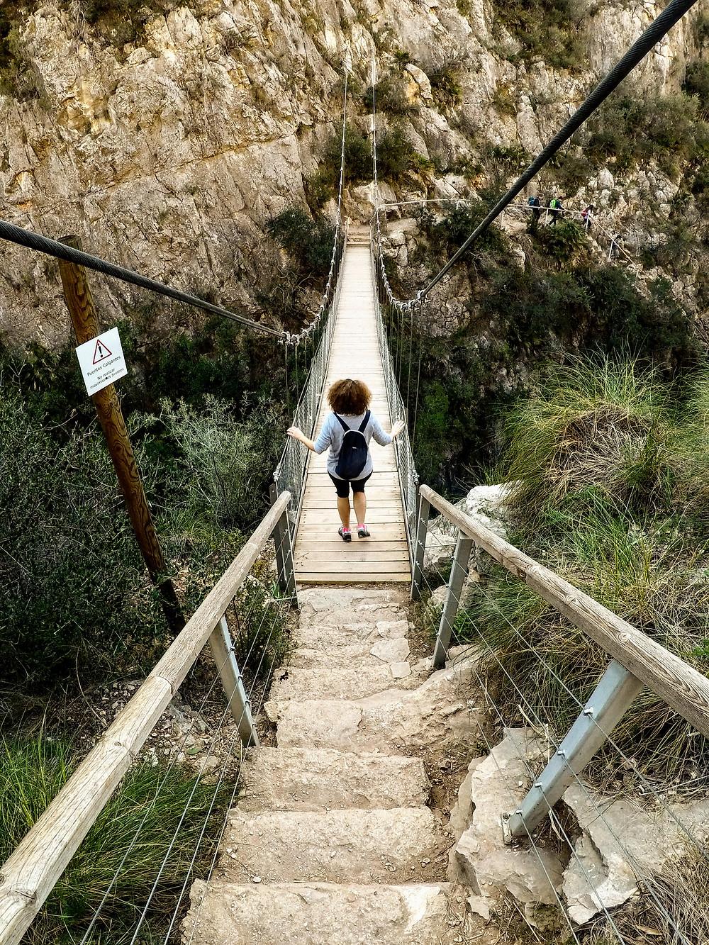 Ruta de los puentes colgantes de Chulilla