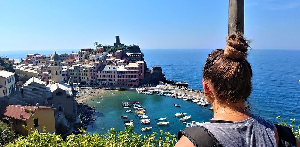 Vernazza desde lo alto, en las Cinque Terre