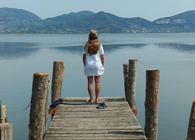 El Mirador del Lago Puccini, cerca de Siena