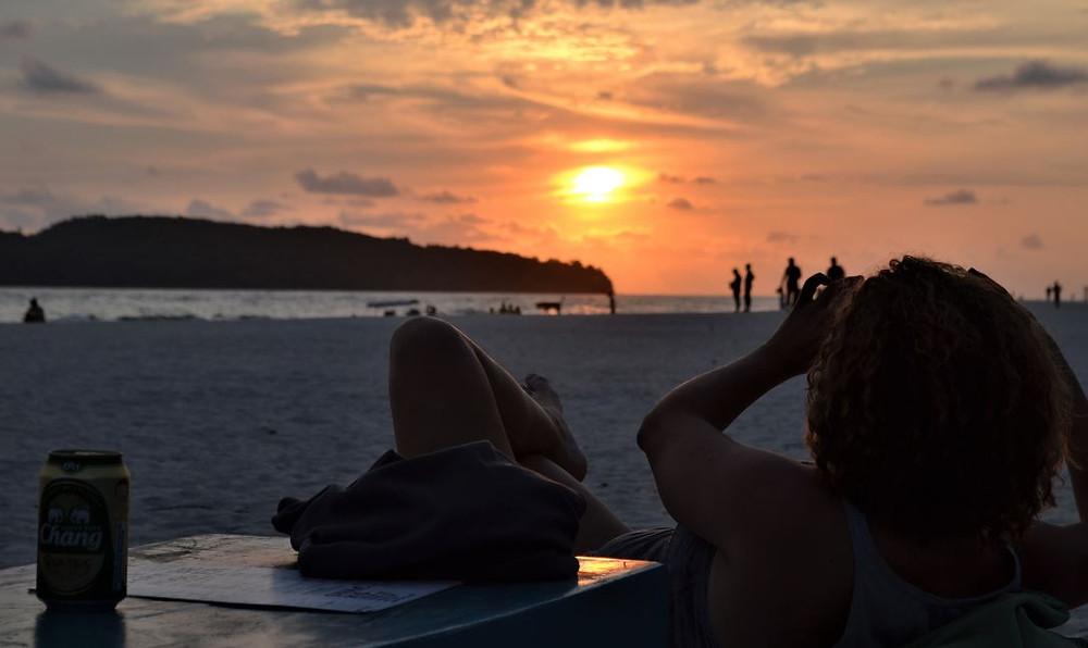 Las puestas de sol en Pantai Cenang nos dejaron impresionados