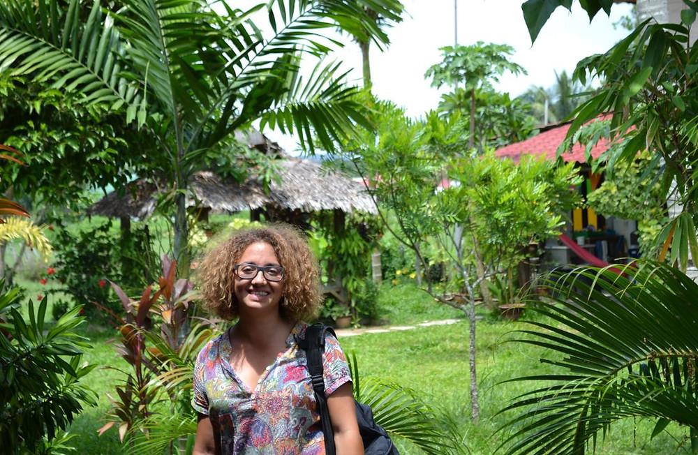 Nuestro hostel, el Soluna Guesthouse, estaba ubicado entre campos de pasto de búfalos