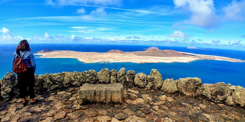 Vista de La Graciosa desde el Mirador del Río, Lanzarote