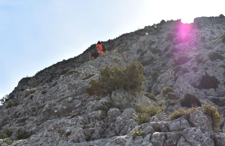 No sabíamos muy bien si era un caminata o una actividad de escalada
