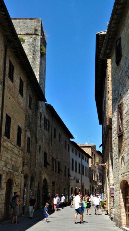La ciudad medieval de San Gimignano