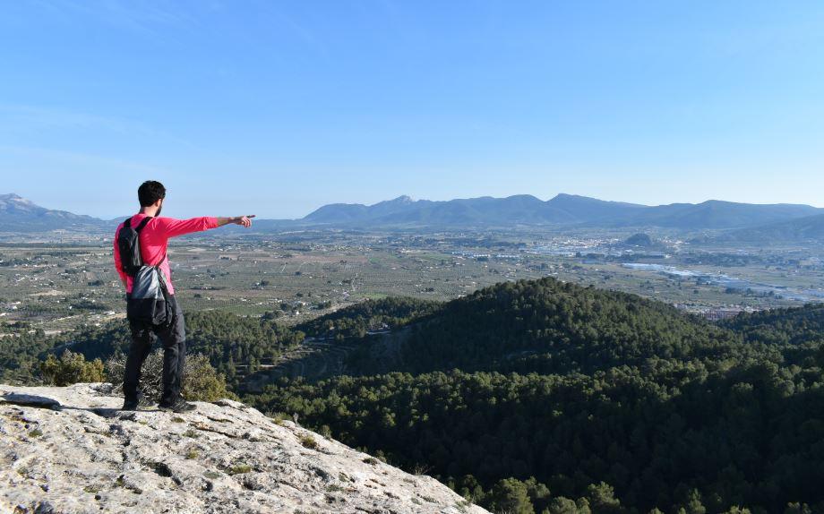 Las vistas al Castillo de Castalla nos acompañaron durante toda la escapada