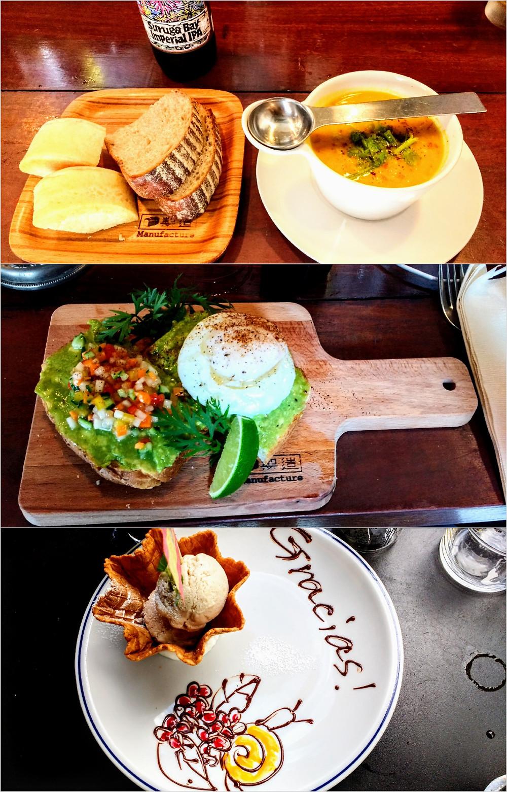 Platos que comimos en el restaurante Suke6 Diner de Tokio