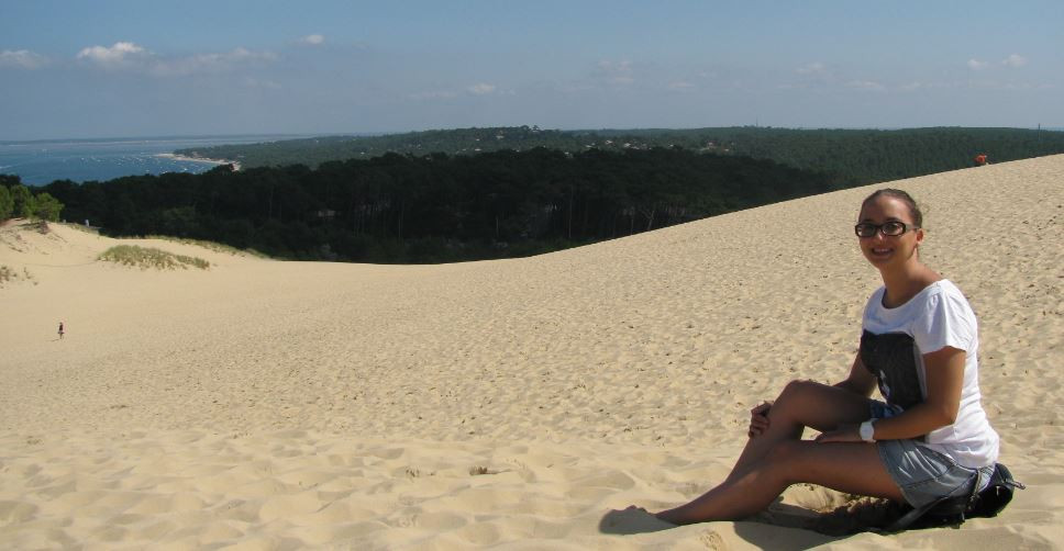 El esfuerzo valió la pena, las vistas desde lo alto de la Dune du Pilat eran maravillosas