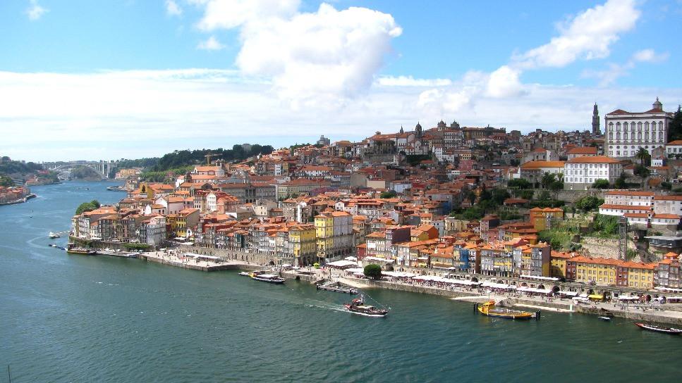Vistas de Oporto desde lo alto del Puente de Luis I