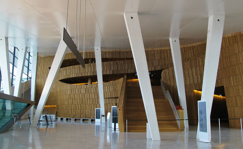 El interior de la Ópera de Oslo