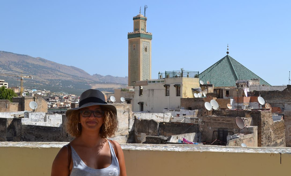 Desde la curtiduría que visitamos pudimos ver algunos de los minaretes de Fez