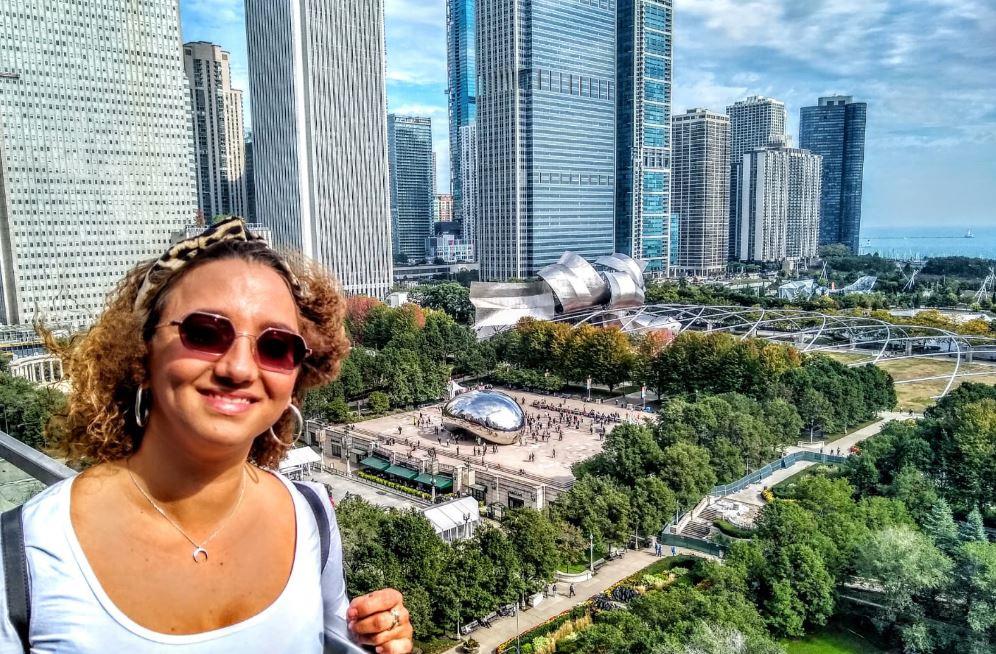 Las vistas al Millenium Park desde Cindy's son espectaculares