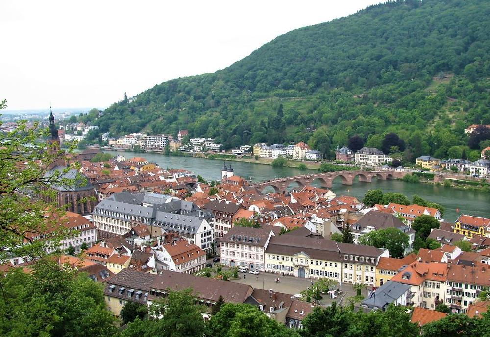 Las vistas de Heidelberg desde el castillo son preciosas