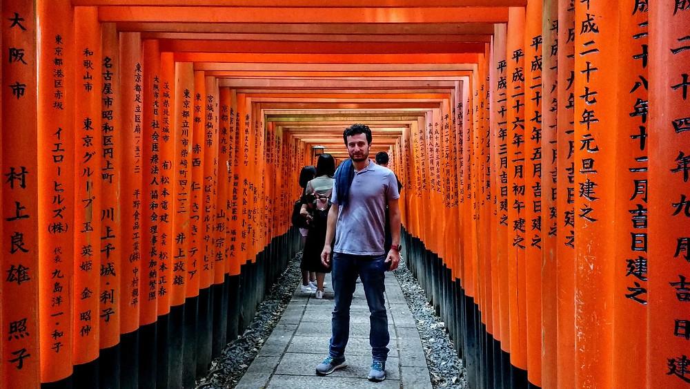 Los famosos toriis de la película Memorias de una Geisha