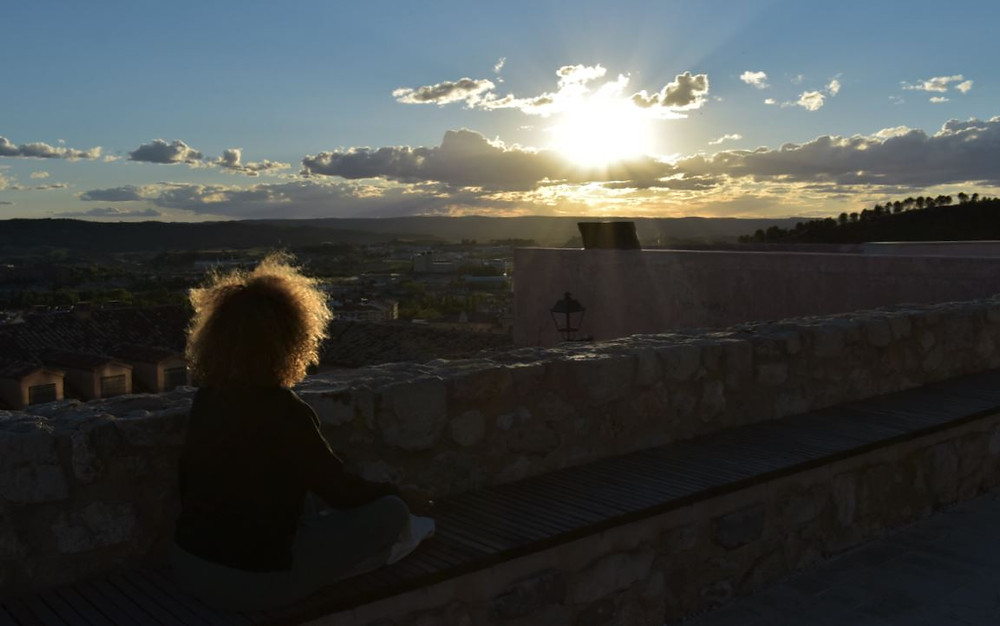 Vaya puesta de sol vimos junto a la Torre de Mangana