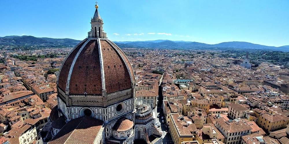 Vistas de la Catedral de Florencia desde el Campanile de Giotto