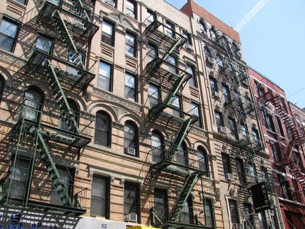 Los edificios del SoHo, con sus escaleras exteriores, nos llamaron mucho la atención