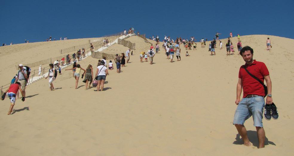 Menuda cuesta tuvimos que subir para llegar a lo alto de la Dune du Pilat