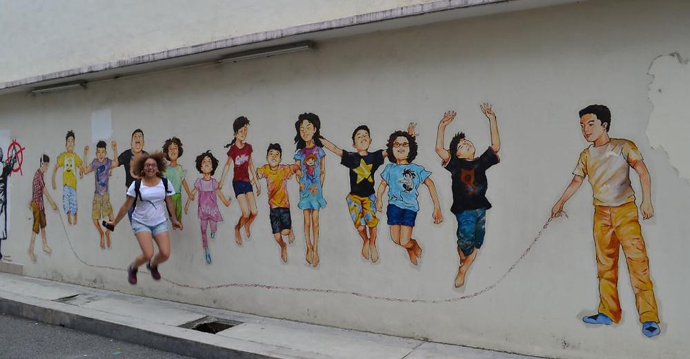 """Mural Art's Lane es una zona tranquila, aunque está llena de """"niños jugando"""""""