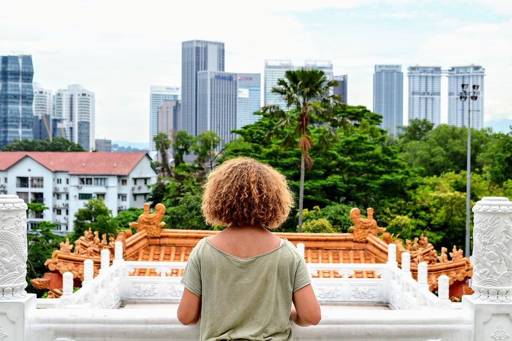 El balcón del Thean Hou Temple tienen unas vistas increíbles