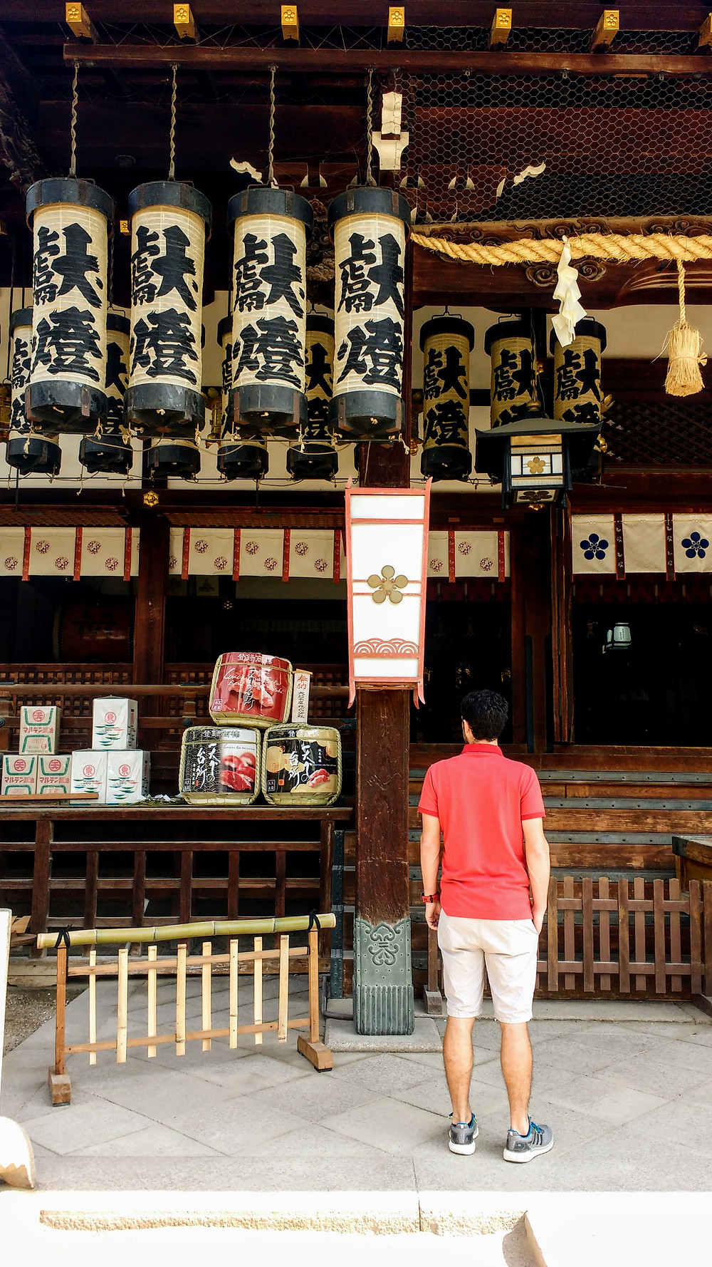 Pequeños templos en Osaka