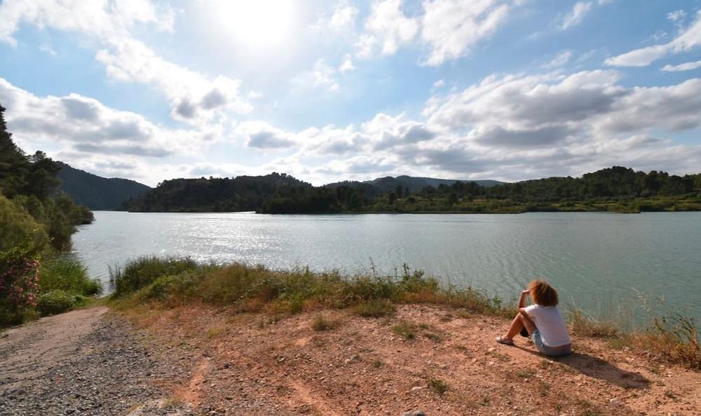 El embalse de Escalona es un lugar ideal para relajarse