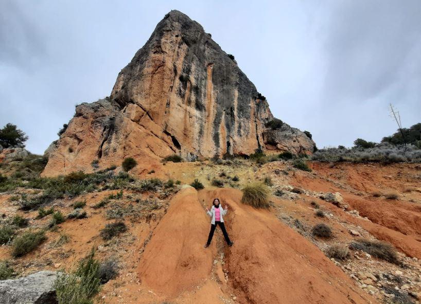 La primera ruta en Onil nos llevó a lo alto de el Reconco de Biar