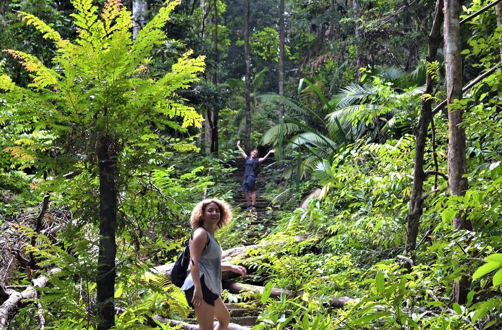4.500 escalones tuvimos que subir para llegar a la cima del Gunung Raya