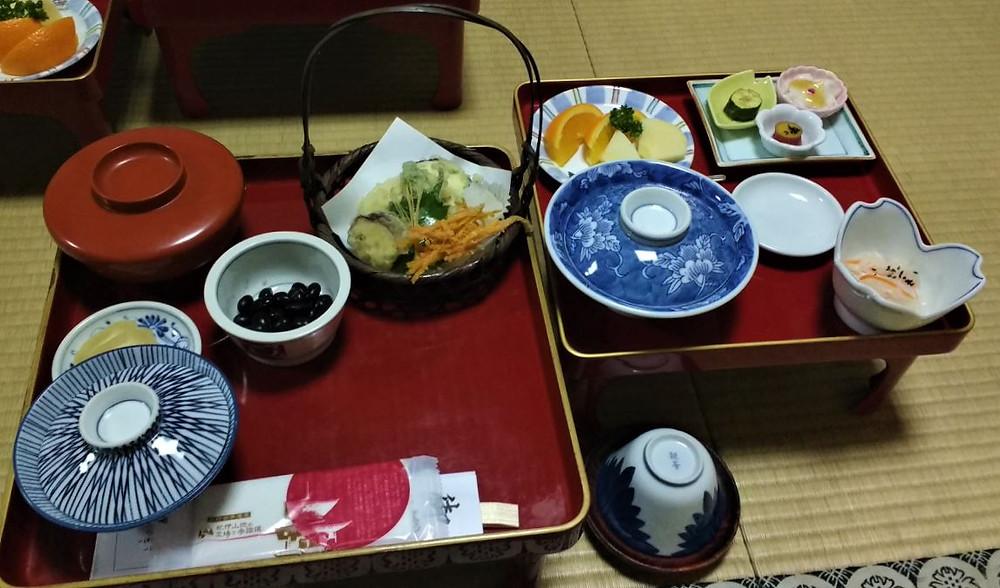 La cena vegetariana en el templo Shojoshin-in